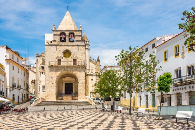 Église de Nossa Senhora DA Assuncao Elvas - au Portugal images stock