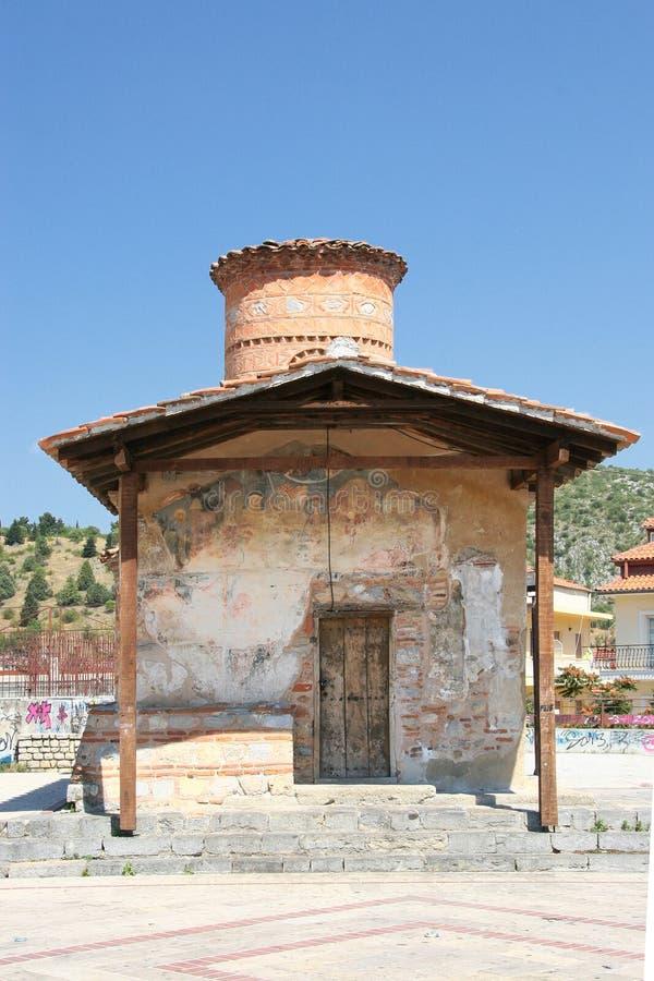 Église de notre cent de Madame Kumpelidiki XI Kastoria image libre de droits