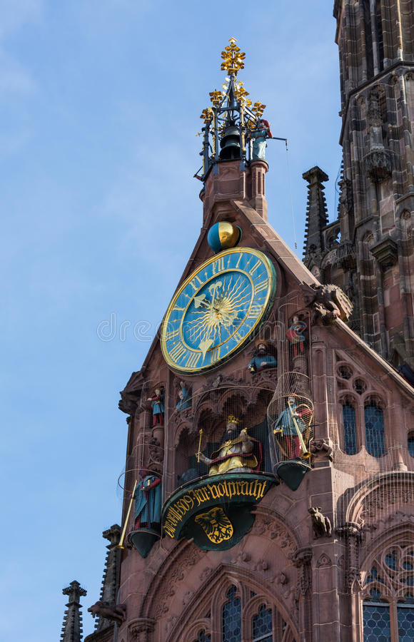Église de notre dame Nuremberg photographie stock