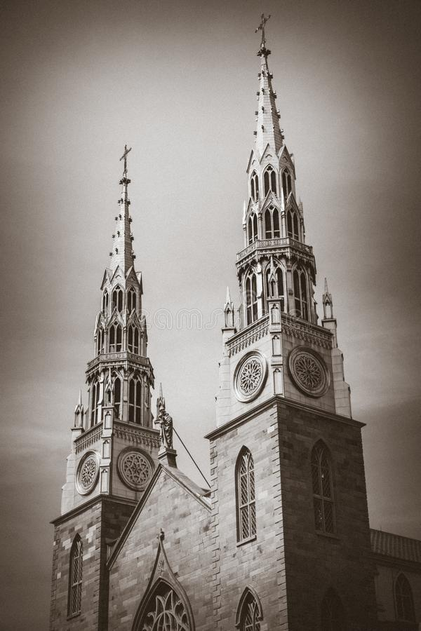 Église de Notre-Dame, Ottawa du centre, Ontario, Canada image libre de droits
