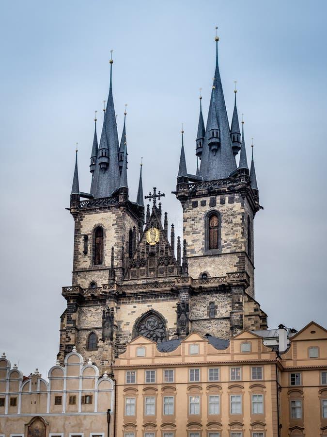 Église de notre Madame à Prague image stock