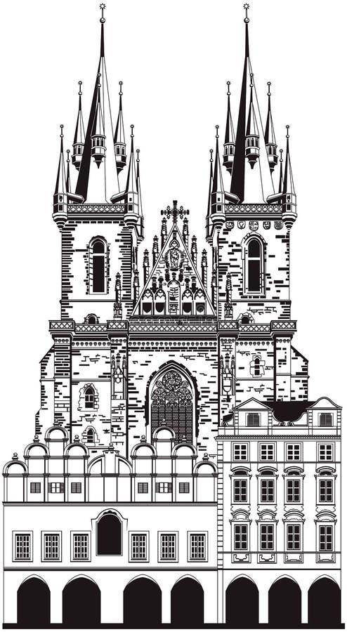 Église de notre Madame illustration libre de droits