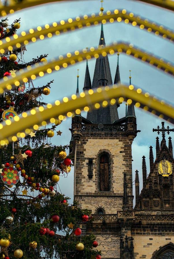 Église de notre Madame avant le ½ n de TÃ, de la vieille place, Prague images stock