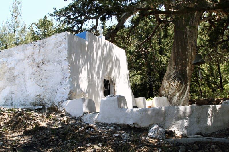 Église de notre Madame de Cypress Melissina Zia dans le village de photos stock