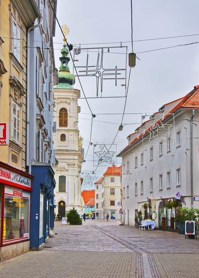 Église de notre Madame de secours à Graz de l'Autriche images stock