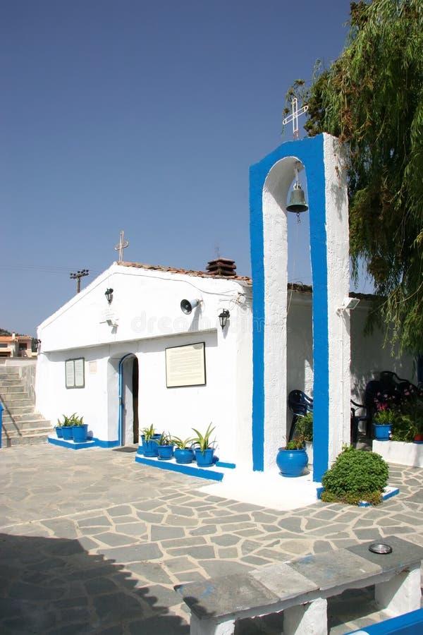 Église de notre Madame Faneromeni sur la péninsule de Kassandra Halkid images libres de droits