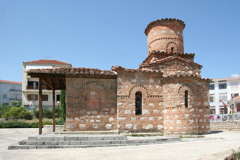 Église de notre Madame Kumpelidiki (XI cent ) Kastoria images stock