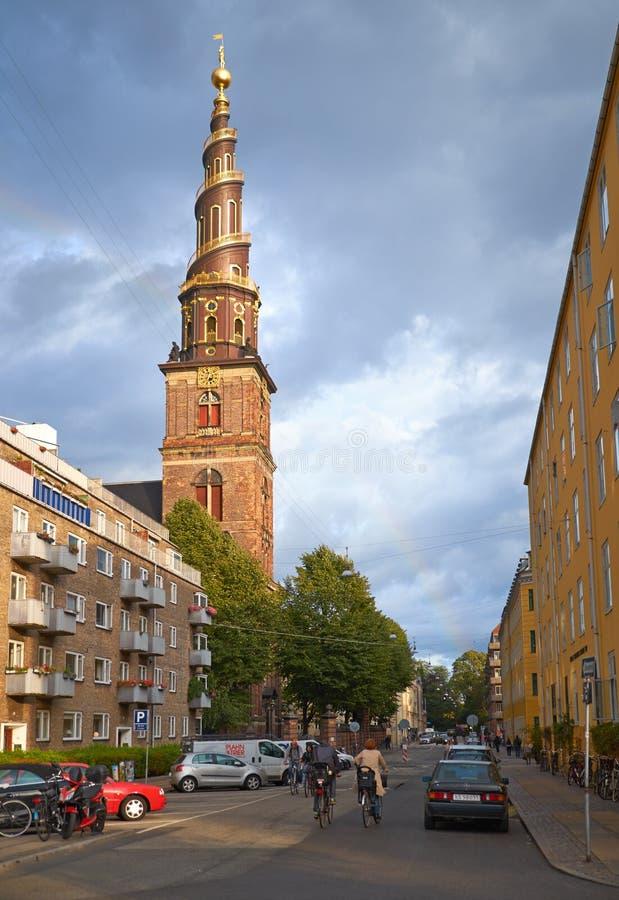 Église de notre sauveur à Copenhague photos stock