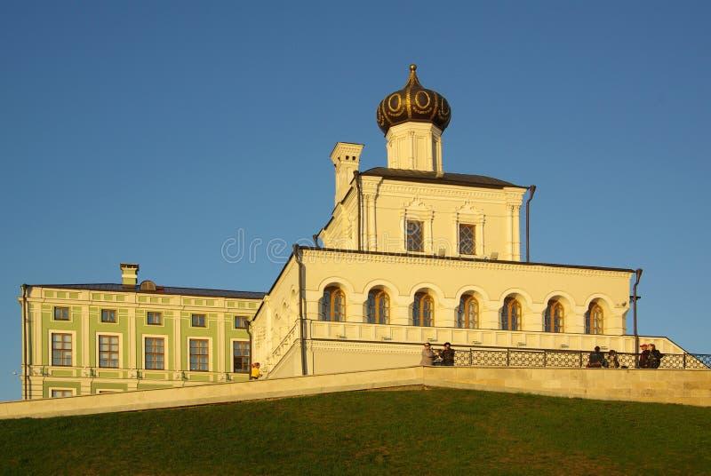 Église de palais à Kazan Kremlin images libres de droits