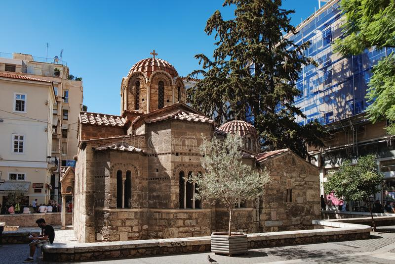 Église de Panaghia Kapnikarea à Athènes, Grèce image libre de droits