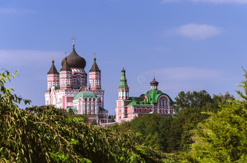 Église de Panteleimon à Kiev Ukraine images libres de droits