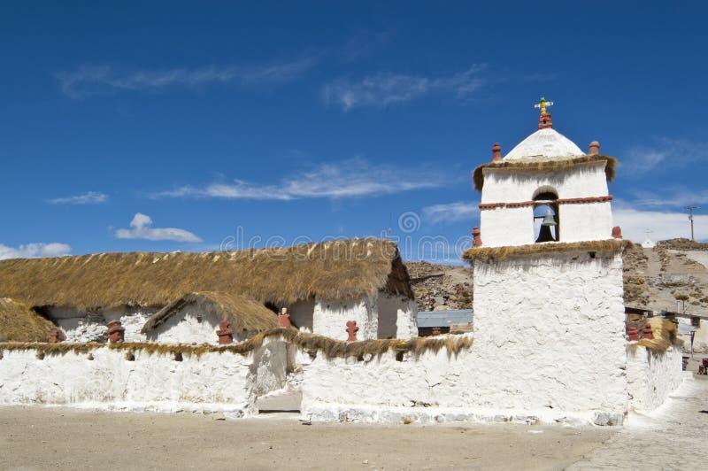 Église de Parinacota, Chili image libre de droits