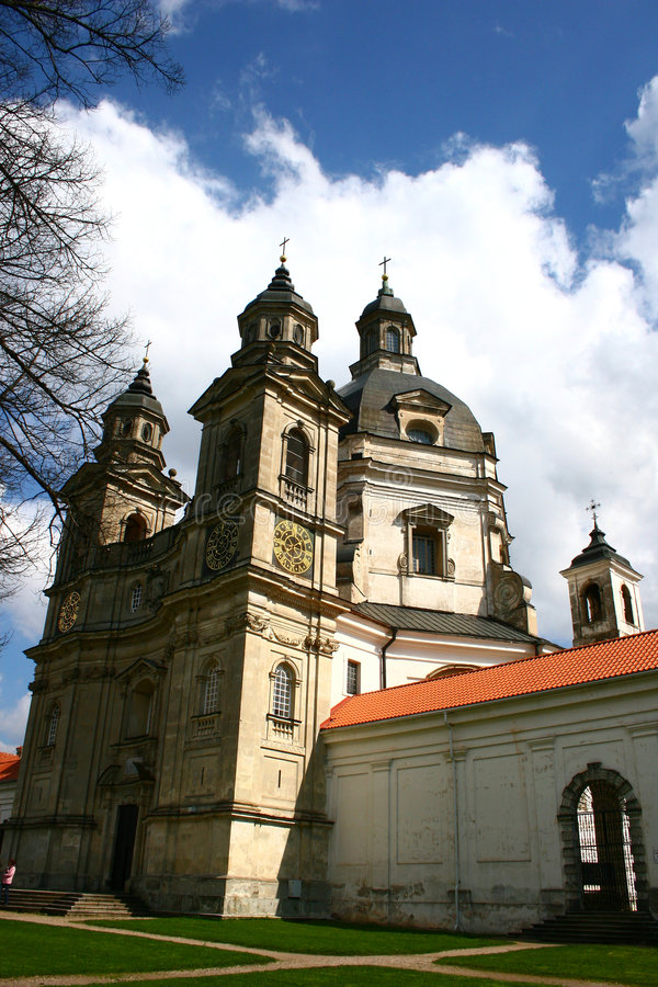 Église de Pazaislis, Kaunas images stock