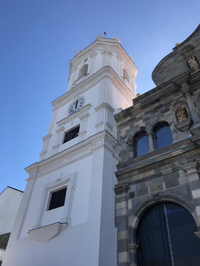 Église de plaza de Catedral chez Casco Viejo images libres de droits