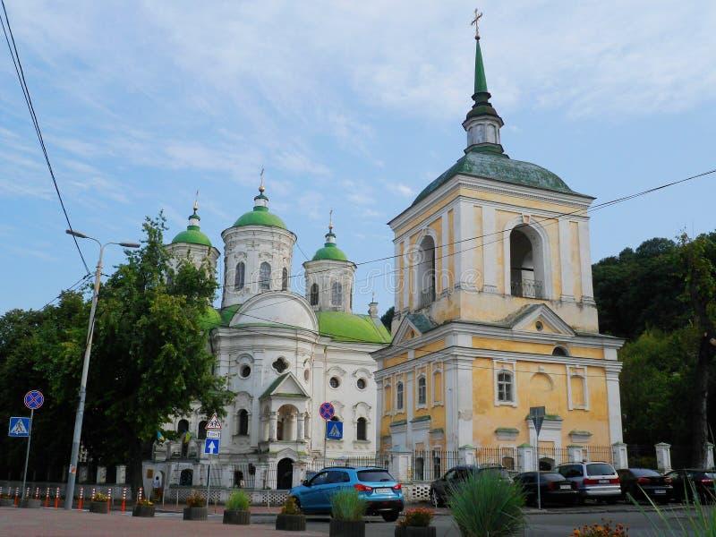 Église de Pokrovskaya dans la ville de Kiev, Ukraine photo libre de droits