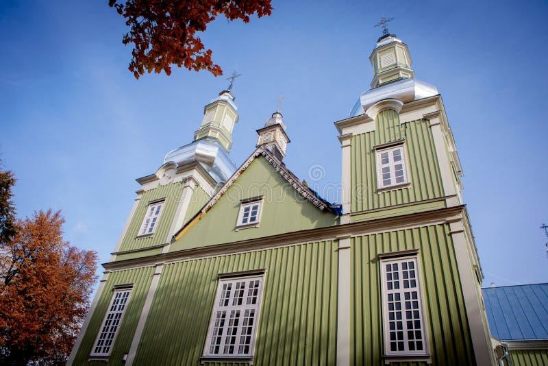Église de révélation du Christ dans Prienai photo libre de droits