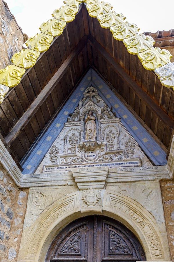 Église de Rennes le Chateau, France photographie stock