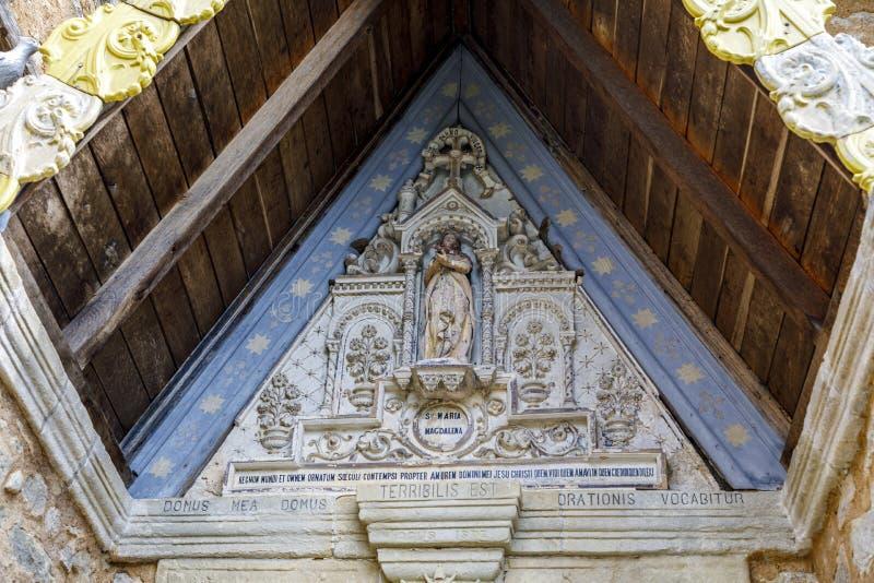 Église de Rennes le Chateau, France image stock
