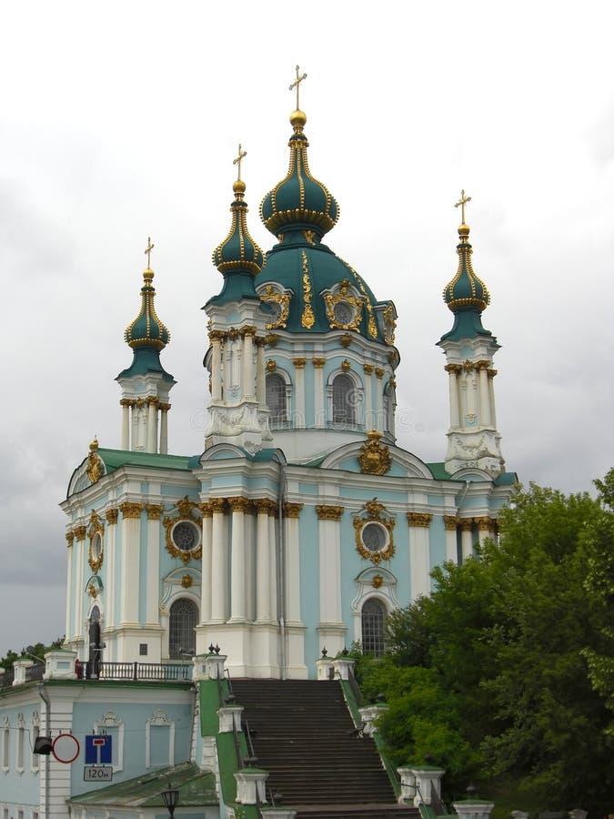 Église de rue Andrew à Kiev photographie stock