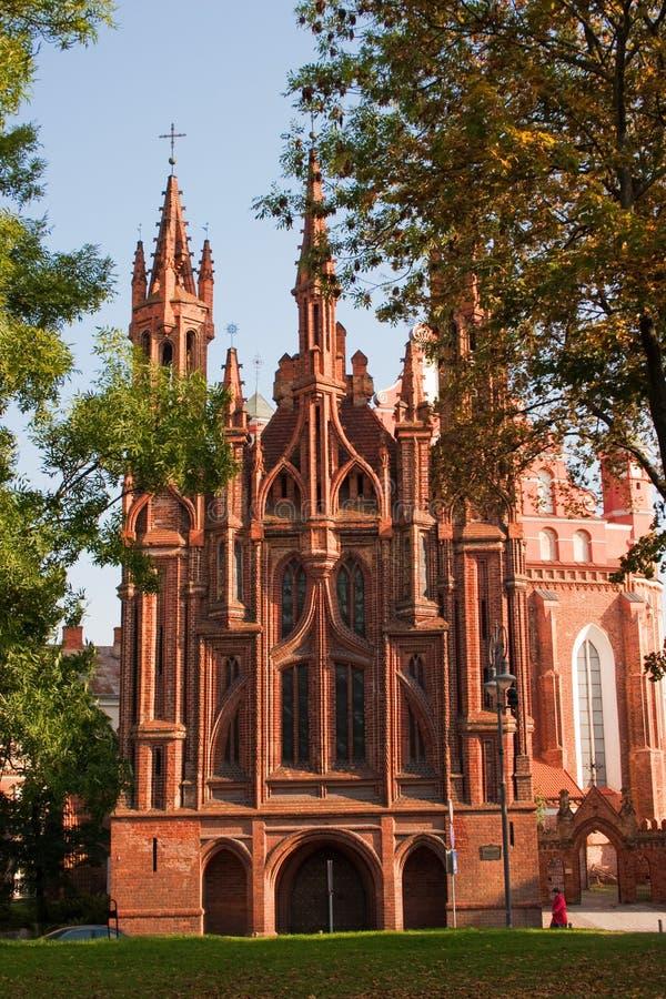 Église de rue Anne à Vilnius photos libres de droits