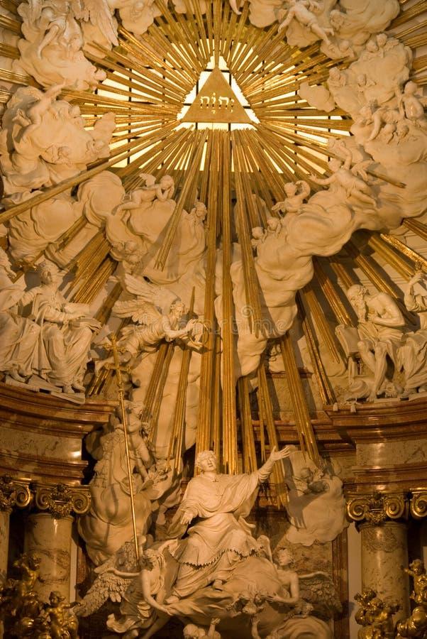Église de rue Charles - autel images libres de droits