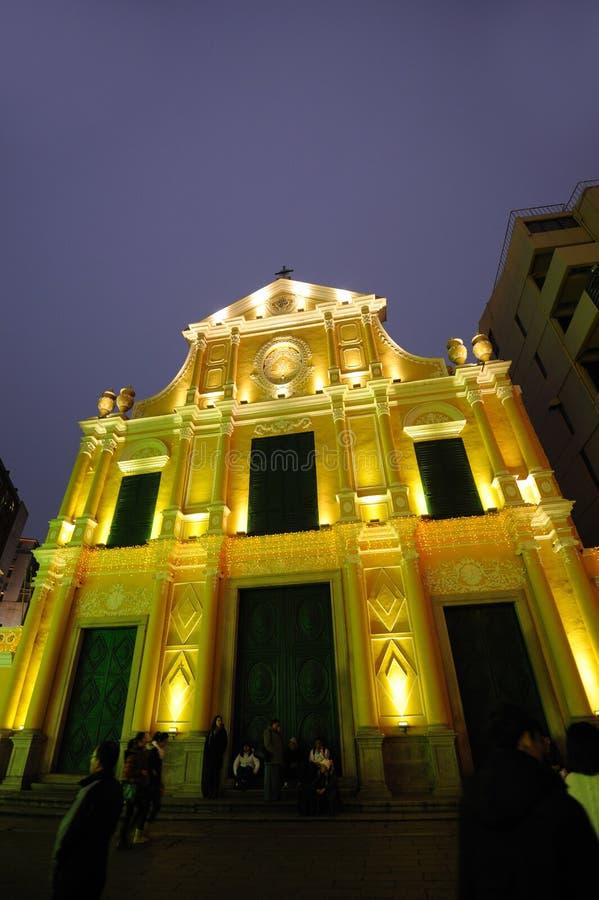 Église de rue Dominic dans Macao images libres de droits