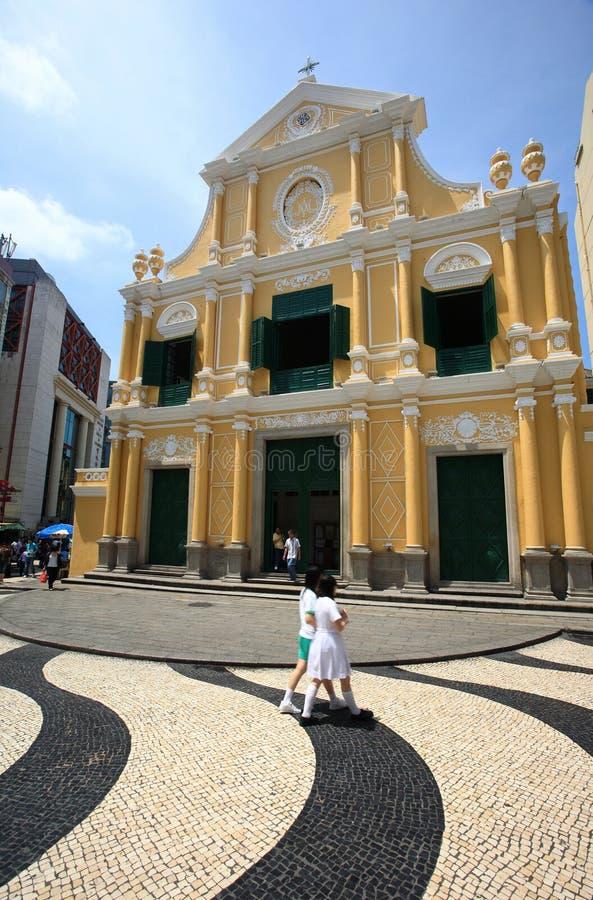 Église de rue Dominic, Macao, porcelaine photo libre de droits