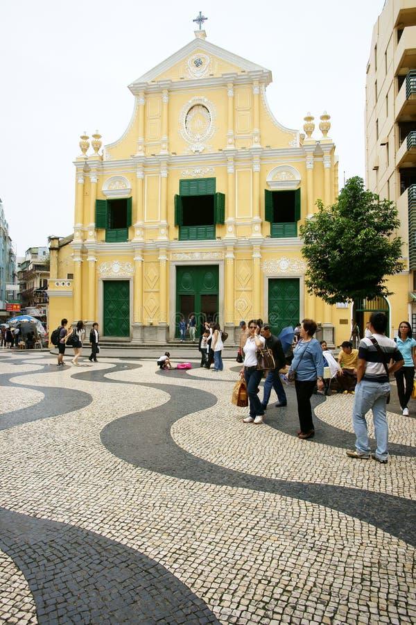 Église de rue Dominic, macau photographie stock libre de droits