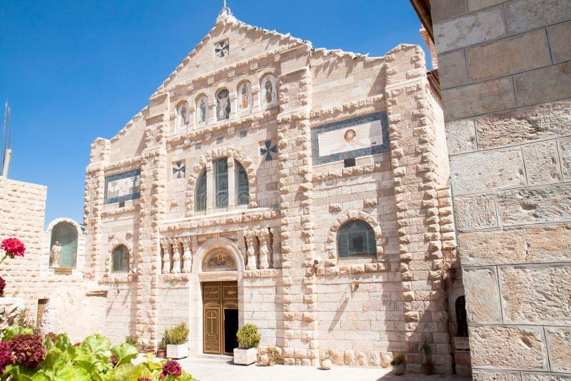 Église de rue Jean-Baptist, Madaba images libres de droits