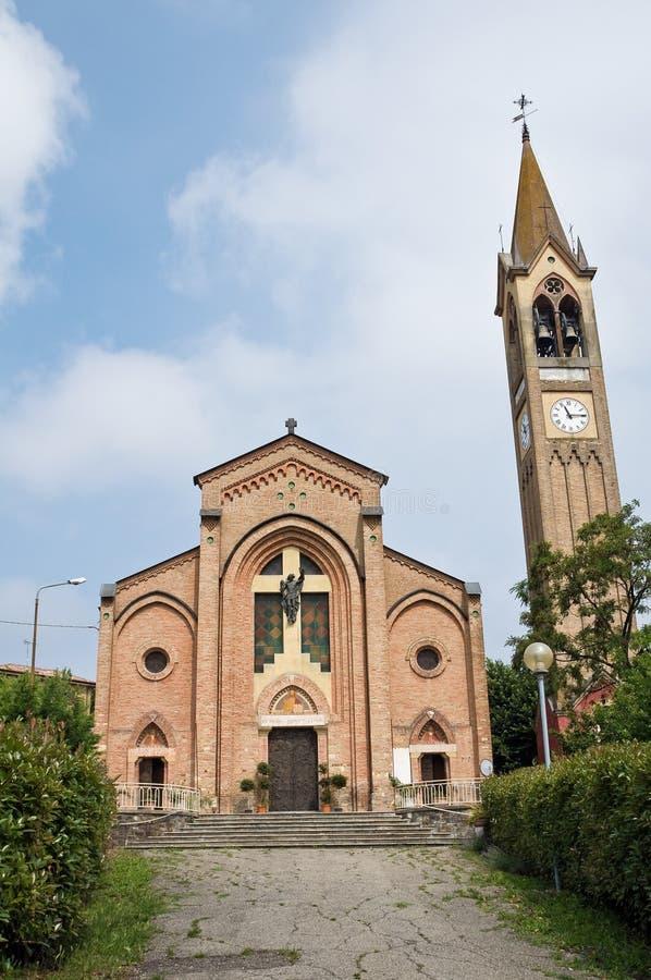 Église de rue Maria Assunta. Gropparello. Emilia-Roma images stock