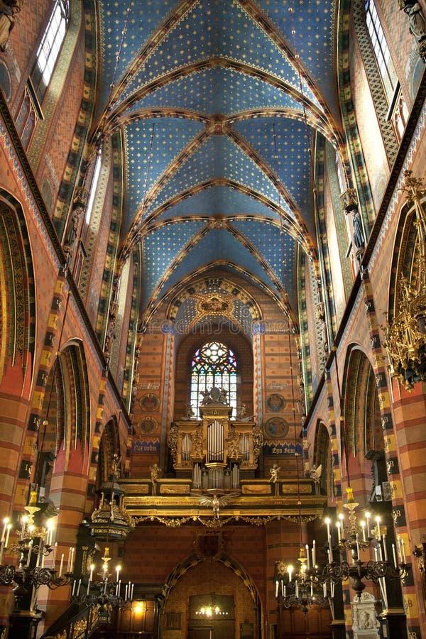 Église de rue Mary - Cracovie - Pologne photos stock