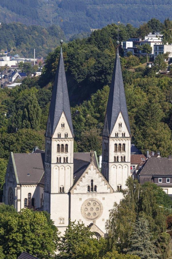 Download Église De Rue Michael Dans Siegen, Allemagne Photo stock - Image du église, vertical: 77150396