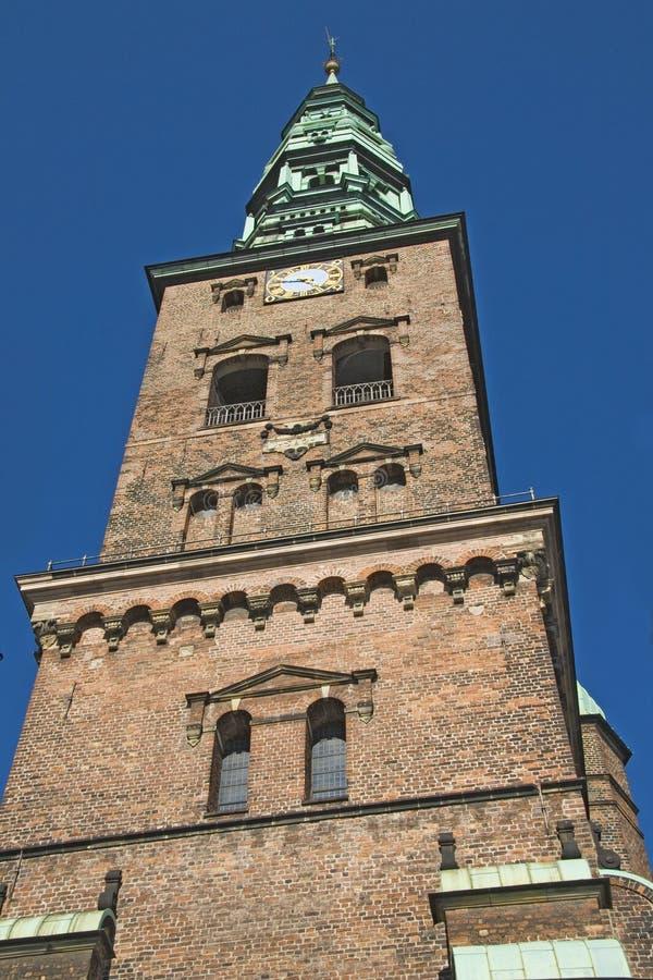 Église de rue Nickolay à Copenhague image libre de droits