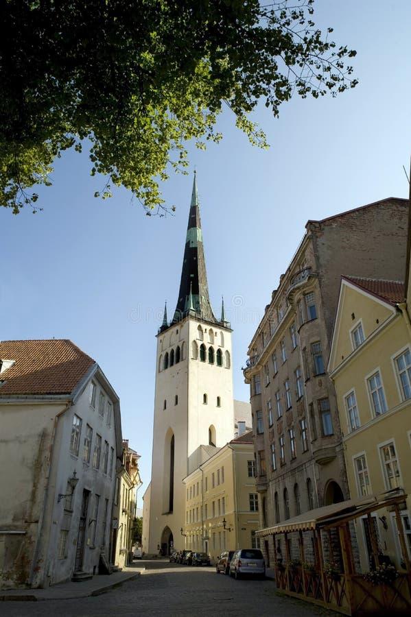 Église de rue Olaf de Tallin Estonie photographie stock