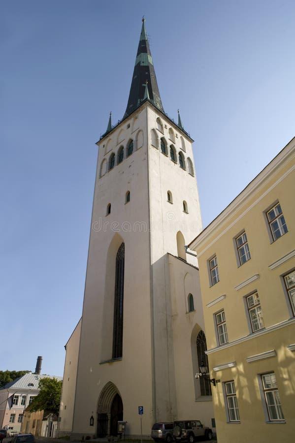 Église de rue Olaf de Tallinn Estonie photographie stock libre de droits