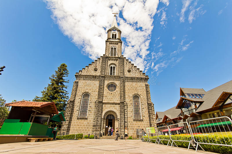 Église de rue Peter Ville de Gramado, Rio Grande do Sul - Brésil photographie stock