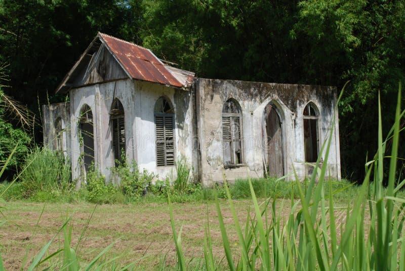 Église de rue Tchad photographie stock libre de droits