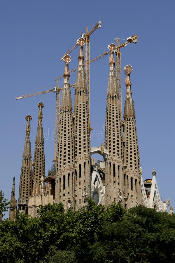 Église de Sagrada Familia de La dans Barc photographie stock libre de droits