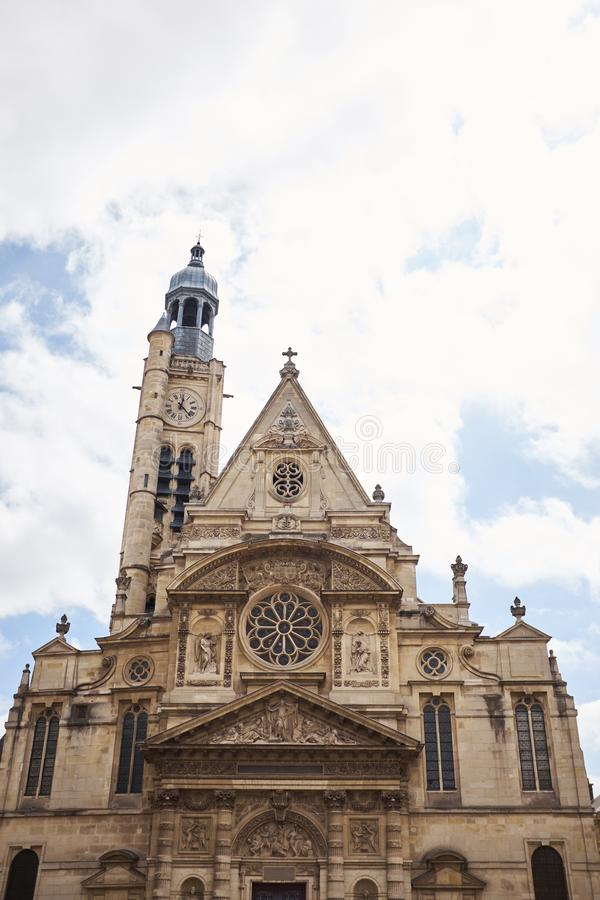Église de Saint-Etienne-du-Mont 1494-1624 à Paris près de Panthéon images libres de droits