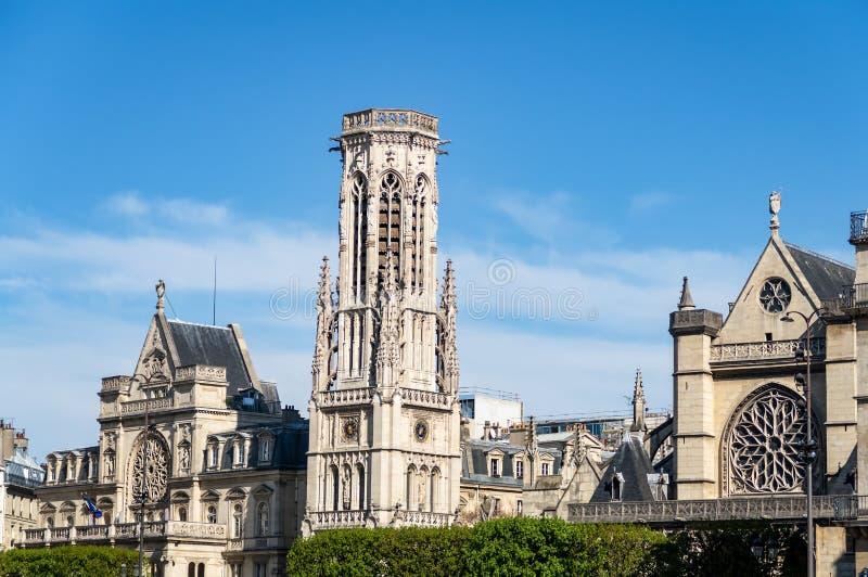 """Église de Saint-Germain-l """"Auxerrois - Paris photo stock"""