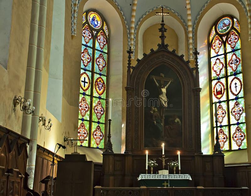 Église de saint John dans Cesis, Lettonie images stock