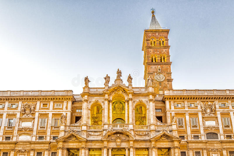 Église de saint Mary Major à Rome, Ital photographie stock libre de droits