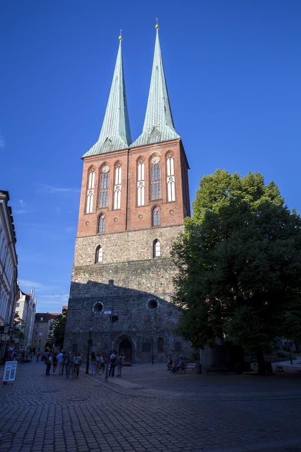 Église de Saint-Nicolas à Berlin image libre de droits