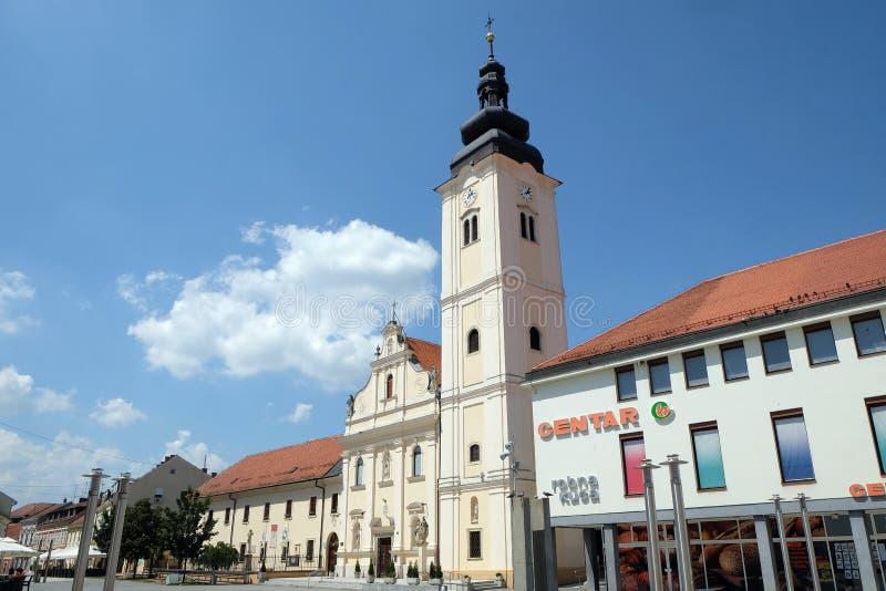 Église de Saint-Nicolas dans Cakovec, Croatie images libres de droits
