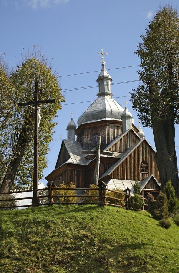 Église de Saint-Nicolas dans Hoszow Podkarpackie Voivodeship poland photo libre de droits