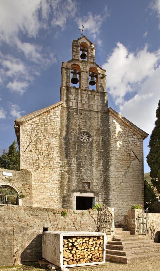 Église de Saint-Nicolas dans le monastère de Praskvica montenegro images libres de droits