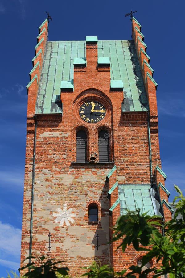 Église de Saint-Nicolas dans Trelleborg en Suède images stock