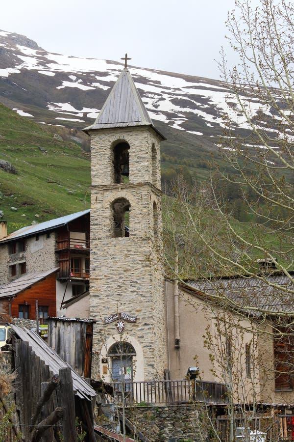 Église de saint-Véran dans les Frances photographie stock