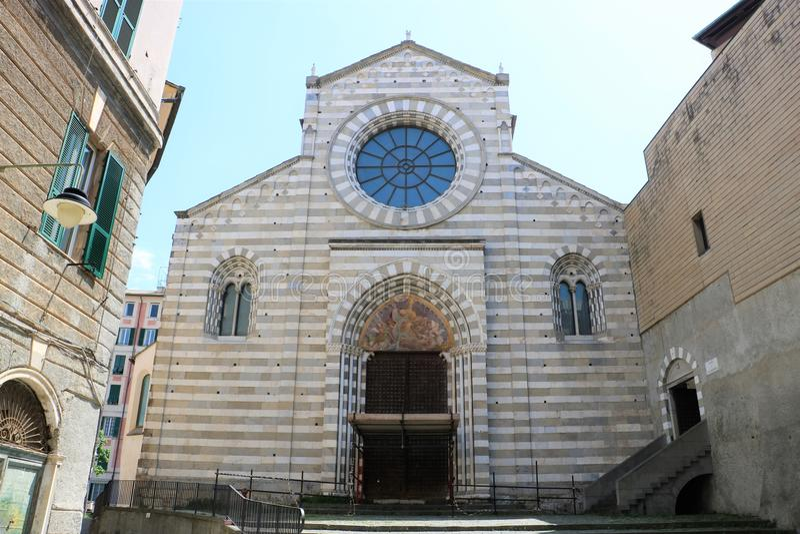 Église de San Donato, Gênes, Italie image stock
