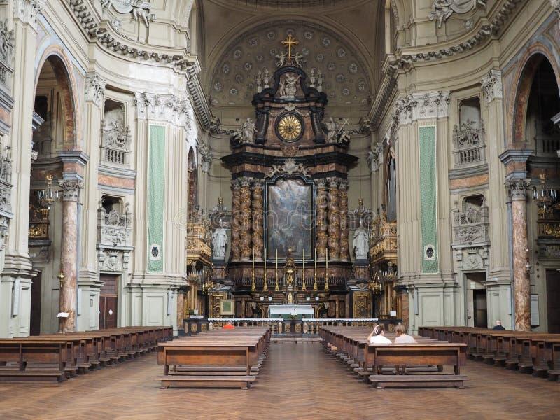 Église de San Filippo Neri à Turin image libre de droits